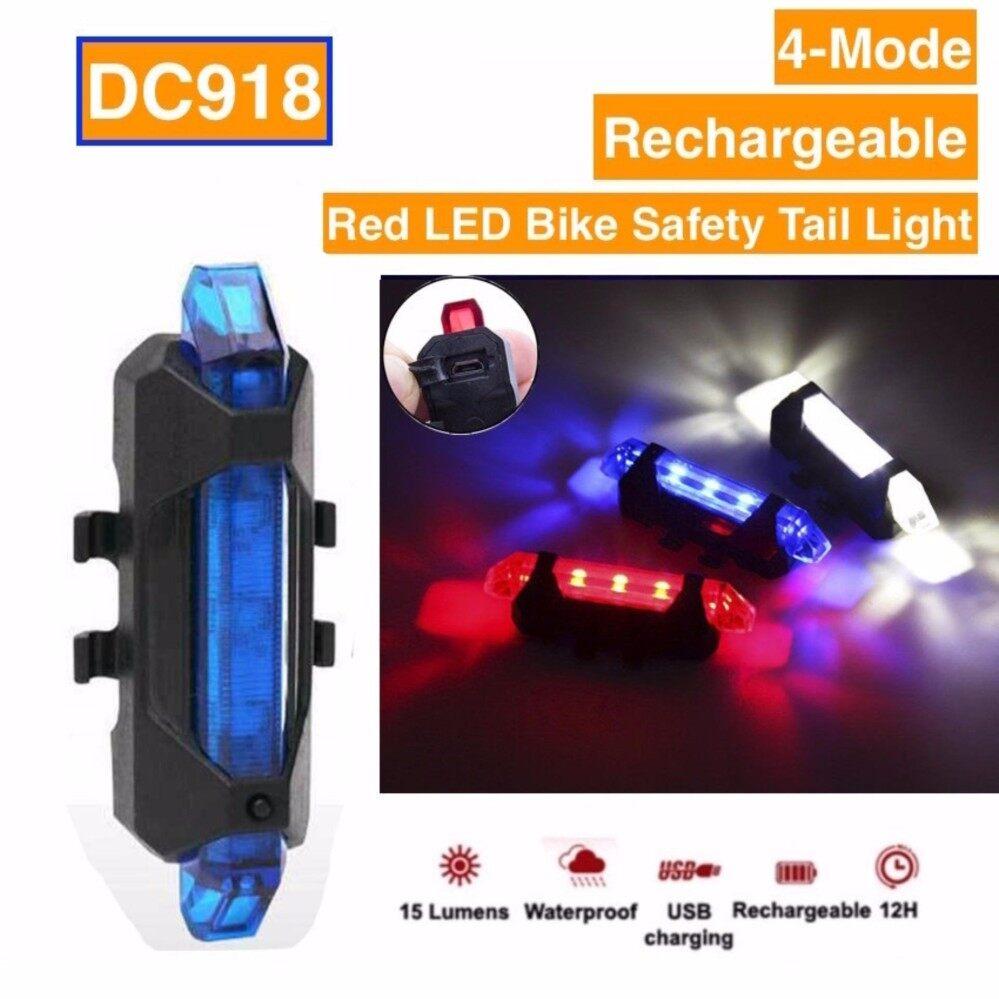 ไฟท้ายจักรยาน USB รุ่นDC918 15Lumens