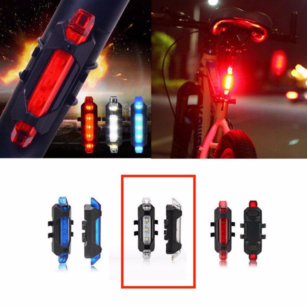 ไฟท้ายจักรยาน USB รุ่นDC918 (สีขาว) 15Lumens