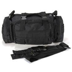ราคา กระเป๋าเป้ทหารยุทธวิธีตีเอวเดินป่าตั้งแคมป์ Mollenปรับได้กระเป๋าสีดำ Unbranded Generic ใหม่