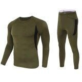 ส่วนลด Veecome Warm Breathable Fleece Thermal Underwear Long Sleeves T Shirt Pants Set Exercise Clothes For Men Women Color Army Green Size Xl Intl Unbranded Generic จีน