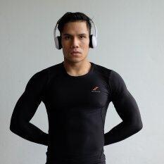 โปรโมชั่น Wanaka Compression เสื้อรัดกล้ามเนื้อ Rash Guard Premium Uv Tech Black ถูก