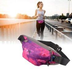 โปรโมชั่น กระเป๋าคาดเอว สำหรับ วิ่งออกกำลังกาย ท่องเที่ยว ช้อปปิ้ง ลายสีชมพู Unbranded Generic