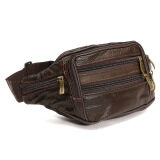 ราคา Waterproof Soft Leather Bum Waist Bag Pouch Wallet Pack Travel Men S Money Belt Brown ออนไลน์