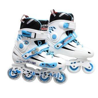 WeiQiu รองเท้าสเก็ต โรลเลอร์เบลด professional Fix (สีขาว/น้ำเงิน)