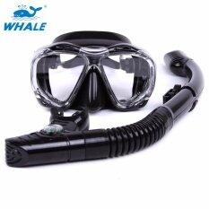 โปรโมชั่น Whale Diving Mask Set Wider View Anti Fog No Leaking Diving Snorkeling Freediving Mask Snorkel Set Intl Whale