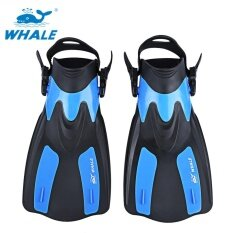 ซื้อ Whale Oceanic Swimming Diving Snorkeling Adjustable Submersible Fins Trek Blue Intl ถูก