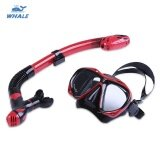ส่วนลด Whale Professional Diving Water Sports Training Snorkeling Silicone Mask Snorkel Glasses Set Available In Red Black And Yellow Colors Intl Whale