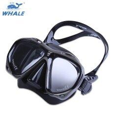 WHALE มืออาชีพการดำน้ำลึกสายตาสั้นสายตายาวว่ายน้ำหน้ากากดำ