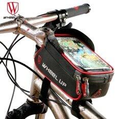 ซื้อ Wheel Up Rainproof Front Zipper Bike Bag Mtb Mountain Cycle Touch Screen Phone Bags Waterproof Gps Cycling Pouch Panniers Intl Wheel Up ถูก