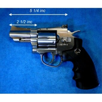WinGun Sport 7 Full Metal CO2 Revolver (708-S) ลูกโม่สีเงิน