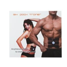โปรโมชั่น Wireless Ems Muscle Training Gear Arm Abdominal Abs Fitness For Abdomen Trainers Black Intl จีน
