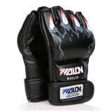 ขาย Wolon นวมMma นวมชกมวย นวมต่อยมวย นวมซ้อมมวย นวมมวยไทย Pu Leather Mma Ufc Muay Thai Fight Half Finger Boxing Gloves ถูก กรุงเทพมหานคร