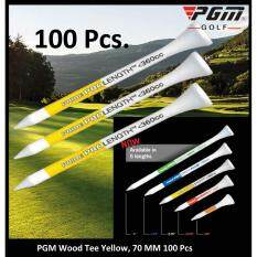 ซื้อ Wood Tee Pro By Pgm Length Standard 70 Mm 100 Or 250 Or 500 Pcs Pgm ถูก
