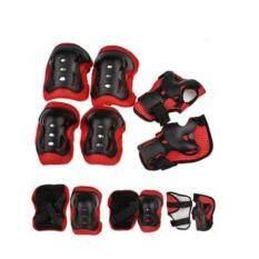 Worktoys อุปกรณ์ป้องกันการล้ม สำหรับเด็ก สนับเข่า/มือ/ข้อศอก 6 ชิ้น (สีแดง)