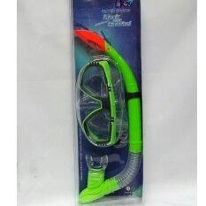 Worktoys Mask and Snorkel แว่นตา สน๊อกเกิล ดำน้ำ สำหรับเด็ก/ผู้ใหญ่ สีเขียว