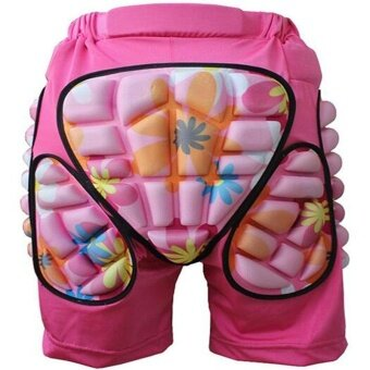WWang Kids Boys Girls 3D Protection Hip EVA Paded Short Pants Protective Gear Guard Pad Ski Skiing Skating Snowboard Pink XS - intl