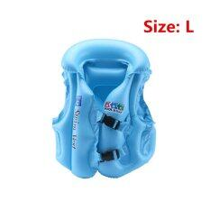 ราคา Ybc Adjustable Kids Inflatable Float Life Vest Swiwmsuit Drifting Safety Vests Intl ถูก