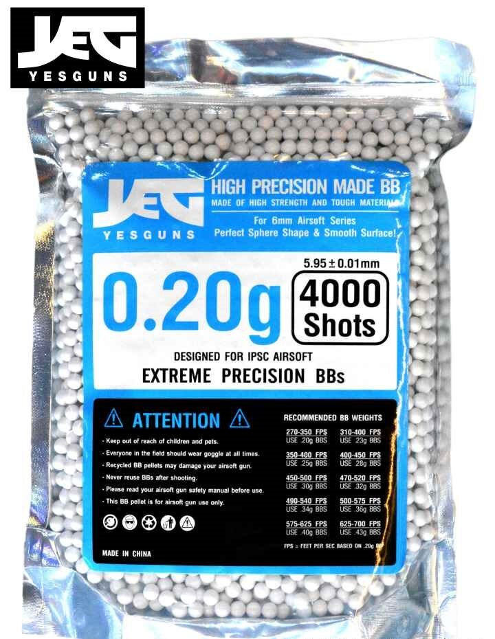 yesguns ขนาด 0.20 g. ลูกกระสุนบีบีกัน BBGUN ระดับพรีเมี่ยม