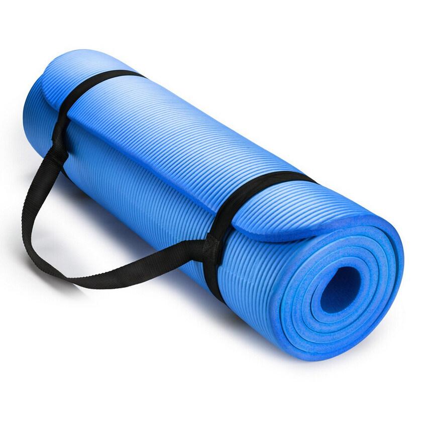 YJS 10 มิลลิเมตร EXTRA หนาหนาแน่นสูง Anti - Tear เสื่อโยคะออกกำลังกายพร้อมสาย