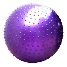 ส่วนลด Yoga Ball โยคะบอล ลูกบอลโยคะ บอลโยคะ บอลฟิตเนส ยิมบอล 75Cm แบบหนาม ฟรีที่สูบลม สีม่วง Smdit