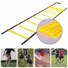 Yoouino 12 Rung ความว่องไวบันได 7 เมตรบันไดปรับความเร็วสูงสำหรับอุปกรณ์การฝึกความเร็วฟุตบอล - นานาชาติ By Yoouino.