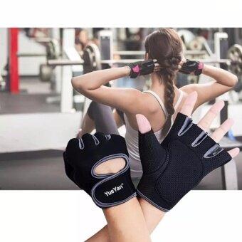 YUEYANถุงมือฟิตเนส ถุงมือออกกำลังกาย Fitness Glove Weight Lifting Gloves Gray ( Int:S)