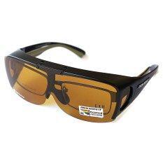 ราคา Zeen Perfect แว่นกันแดดแบบสวมทับ Fit Over Flip Up Glasses 7003 Yellow Lens Zeen Perfect ออนไลน์