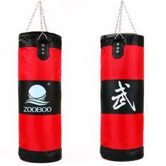 ราคา Zooboo ถุงทรายล้างมวยเจาะถุงทรายห่วงโซ่การปฏิบัติการฝึกอบรมการต่อสู้ สีแดง Unbranded Generic ใหม่