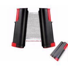 Zxk - Table Tennis Rack เสาตาข่ายปิงปอง ยืดได้ / หดเก็บได้ แบบพกพา สีดำ.