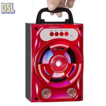 ลำโพง Bluetooth ไร้สาย, ซับวูฟเฟอร์ (รองรับไมโครโฟน, บลูทู ธ , USB, การ์ด TF, วิทยุ) ลำโพง Bluetooth พกพา, ไฟ LED สีสันสดใส ลำโพงบลูทู ธ Bluetooth Speaker ลำโพงบลูทูธ ตระกูลสี สีแดงไม่มีไมโครโฟน,Red without microphone