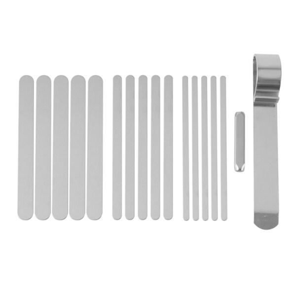 17Pcs Bracelet Bending Rod Kit, Cuff Bracelet Blank with Bracelet Bending and Stamp, for DIY Bracelet Stamping Making