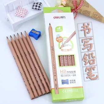 Deli ที่ถูกต้องสำหรับเด็กนักเรียนขนาดใหญ่สามเหลี่ยมดินสอ