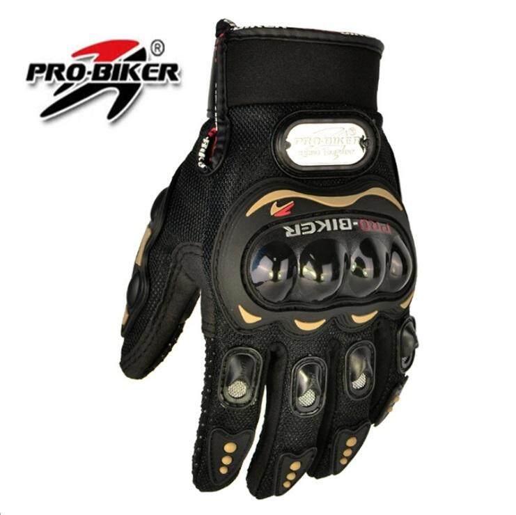 ถุงมือมอเตอร์ไซค์ ถุงมือขับมอไซค์ แบบเต็มนิ้วใส่สบาย ระบายความร้อนได้ดี.