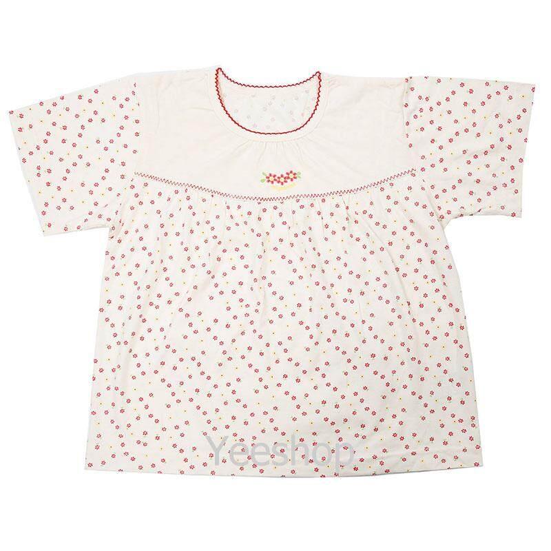 Image 3 for YeeShop ชุดเสื้อผ้าเด็กผู้ชาย/เด็กผู้หญิงแขนสั้นเข้าชุด สไตล์ญี่ปุ่น ลายดอกไม้น่ารัก ไซส์ 80#/XS 90#
