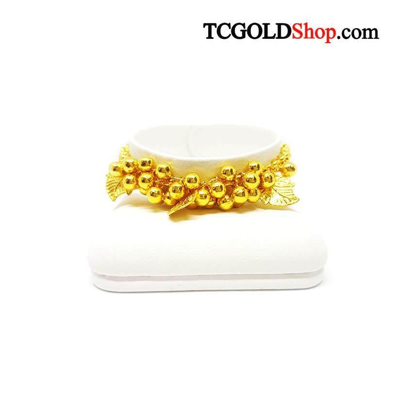 สร้อยข้อมือทองคำแท้ 96.5% นน.1 บาท ลายหวายพวงองุ่น By Tc Gold Shop.