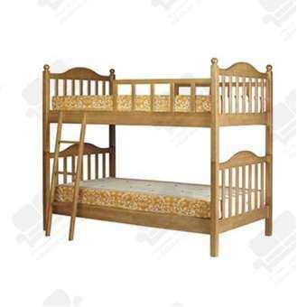 1deelert เตียงไม้ยางพารา 2 ชั้น ขนาด 3.5 ฟุต ( สีธรรมชาติ )-