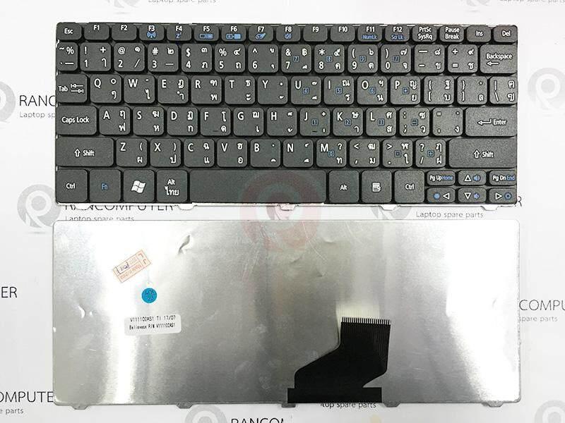 คีย์บอร์ด Acer Aspire D255 D257 D260 D270 D522 532h Series (ไทย-อังกฤษ)(สีดำ).
