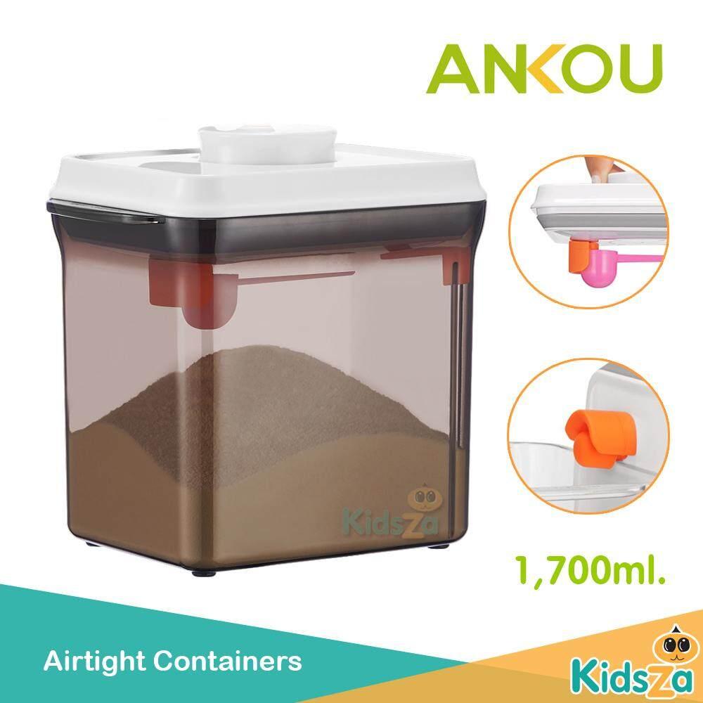 Ankou กล่องเก็บนมผงสูญญากาศ สีชา Airtight Containers (1,700มล.) By Kidsza Shop.