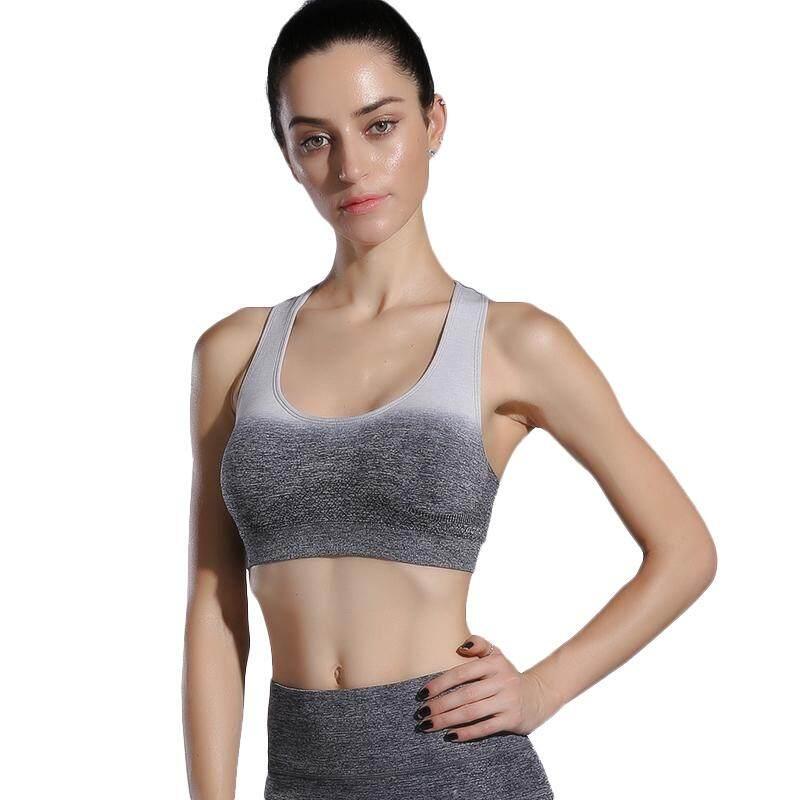 Womens Gradient Color Sportswear Sports Bra Gym Yoga Vest Comfortable Breathable Sports Underwear By Ertic.