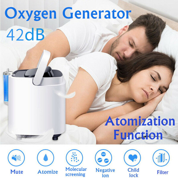 Bloom Portable Oxygen Generator Machine With Nasal Cannula Home Oxygen Concentrator Singapore