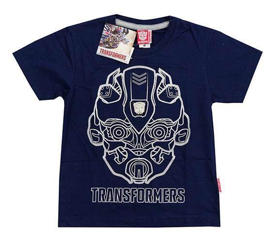 Cool Plus by Cool Planet T-Shirt เสื้อเด็กลายทรานฟอร์เมอร์ พิมพ์ยางนูน 3มิติ Bubble Bee  ผ้า Cotton 100% สีน้ำเงิน ขนาด S-XL