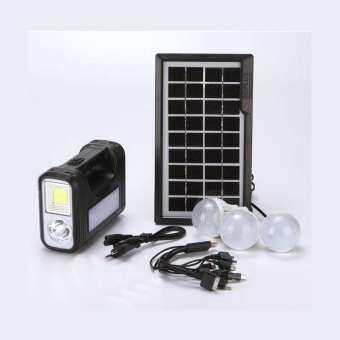 bright all shopping ชุดหลอดไฟโซล่าร์เซลล์ หลอดไฟ LED โซล่าร์เซลล์ ชุดไฟนอนนา รุ่น GD-8017-