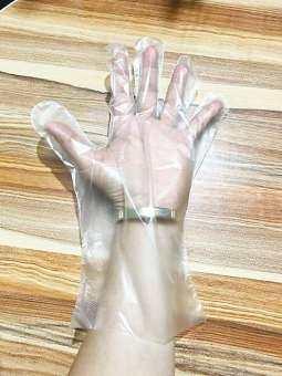 ถุงมือพลาสติก(หนา แข็งแรง)ถุงมือราคาถูก โรงงานขายเอง ส่งเร็วส่งไว ถุงมือแบบใช้แล้วทิ้ง 100 ชิ้น ขนาด 30 cm.หุ้มเลยข้อมือ