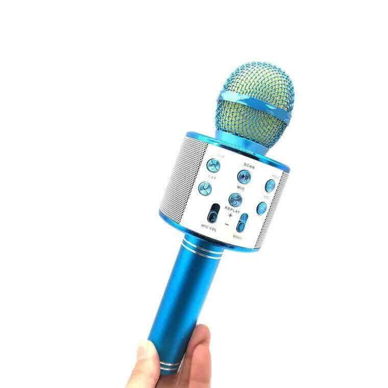 รุ่นws858 Wirless Microphone Karaoke ลำโพง ไมค์ ไมค์ลอย ไมค์ไร้สาย คาราโอเกะ บลูทูธ ( มี 6 สีให้เลือก ) By Kenzo.