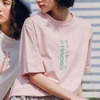 เสื้อยืด Oversize  สกรีนลายภาษาญี่ปุ่น-