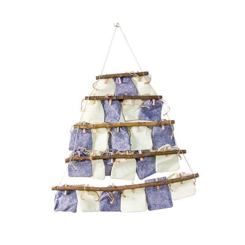 Christmas Countdown Calendar Burlap Advent Calendars Rack With Hanging Bag Candy Gift Bags DIY Xmas Countdown Christmas Decorations Giá Rất Tiết Kiệm