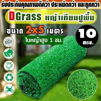 หญ้าเทียม  Dgrass หญ้าเทียม ตกแต่งสวน ใบหญ้าขนาดเล็ก ความสูง 1 ซม. หน้ากว้าง 2 เมตร รุ่น DG-1L (สีเขียวอ่อน) ขนาด 2 x 5 เมตร