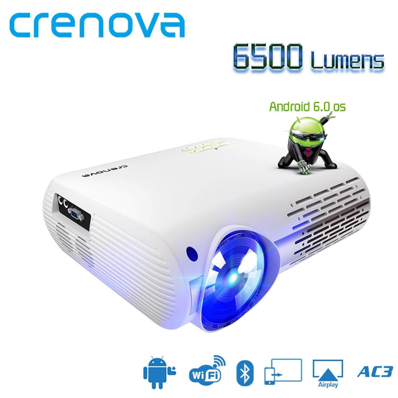 Crenova Xpe660 ล่าสุด Full Hd 4k * 2k โฮมเธียเตอร์โปรเจคเตอร์กับ 5g Wifi Android 6.0 Os 6500 Lumens Projector.