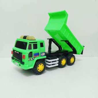 รถสิบล้อ CONSTRUCTION CONVOY รถดั้ม รถ ทุก หิน ดิน ทราย ได้ มีลานในตัว ล้อมีเสียงด้วยนะ ดั้มยกเทได้ สุดๆ อย่างดี  รถยาว 32 ซม. ราคาถูก-
