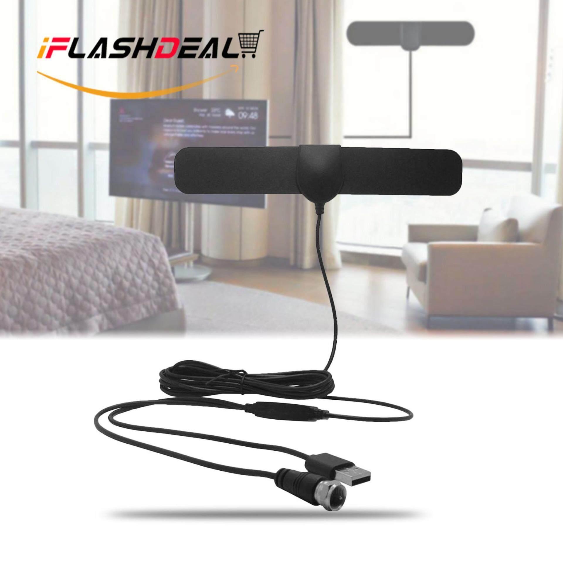 Iflashdeal แอมพลิฟายด์เสาอากาศทีวีดิจิตอล Hd ยาว 50 ไมล์รองรับทีวี 1080p ในร่มที่มีประสิทธิภาพ Hdtv เครื่องขยายสัญญาณแอมป์ - 4 ม. เคเบิ้ล Amplified Hd Digital Tv Antenna By Iflashdeal.